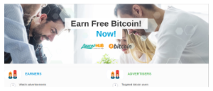 Earn Free Bitcoin by watching ads available daily